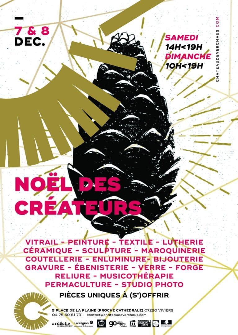 Affiche Marché de Noël,Marché des créateurs, 2019