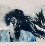 Elsa Ohana, graveure, gravure contemporaire, artiste graveure, artiste femme, collectif du château de verchaüs, atelier, artiste, presse, gravure, espace partagé, viviers, ardèche, château