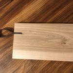 Planche à découper (bois et cuir) - 40€
