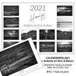 """calendriers 2021 """"Ardèche en Noir & Blanc"""""""