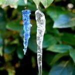 Stalactite. Verre transparent ou coloré - Long 8 à 10 cm - 8,50€ pièce / 20€ les 3